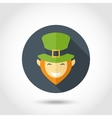 Leprechaun face icon vector image vector image