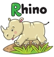 Little rhino for ABC Alphabet R vector image