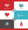 medicine logo design ideas vector image