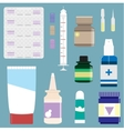 Medicine supplies used in pharmacology set vector image vector image