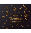Merry christmas and new year 2017 confetti vector image