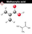 Methacrylic acid molecule vector image vector image