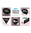 modern promotion square web banner vector image vector image
