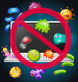 No bacteria sign on computer vector image vector image