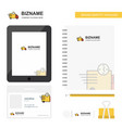 on time delivery business logo tab app diary pvc vector image vector image