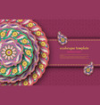 purple arabesque floral pattern with paisley and vector image vector image