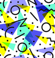 Retro 80s pattern background vector image vector image