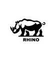 rhino symbol logo black white style vector image