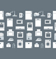seamless pattern with household appliances