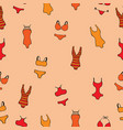 seamless pattern with women bathing suits vector image vector image