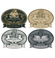 set hand drawn wine labels with bunch grapes vector image vector image