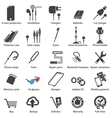 set Mobile servise web icons vector image vector image
