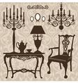 set of antique furniture