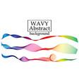 set of fluid color shapes liquid wave flow design vector image vector image