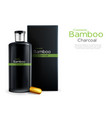 shampoo with bamboo charcoal packaging vector image vector image