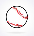 simple baseball vector image vector image