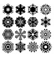 snowflake icon isolated vector image vector image