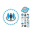 Society Flat Icon with Bonus vector image vector image