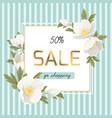 spring sale discount anemone hellebore flowers vector image