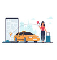 taxi order vehicle rent and car sharing cab vector image
