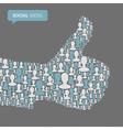 thumb up symbol social vector image vector image