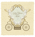 Vintage wedding invitation card vector | Price: 1 Credit (USD $1)