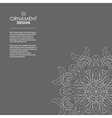 Wallpaper in the oriental style of Baroque vector image vector image