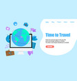 webpage template concept time to travel vector image vector image