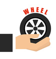 wheel car design vector image