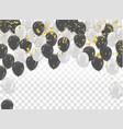 white and black balloons design celebration vector image