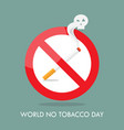 world no tobacco day prohibition sign vector image