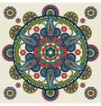 Indian paisley hand drawn mandala vector image