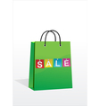 a shopping bag with the inscription sale vector image vector image