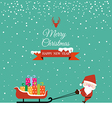 Abstract Christmas with Santa Claus and gift on vector image vector image