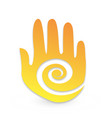 abstract hand with swirly flowing design icon vector image vector image