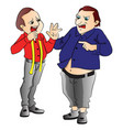 angry customer shouting at tailor vector image vector image