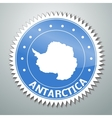 Antarctic flag label vector image vector image