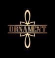 art deco ornamental logo