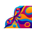background design with butterfly vector image vector image