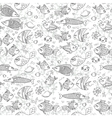 background underwater world seamless pattern vector image