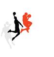 Basketballer dunking vector image vector image