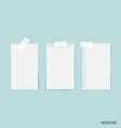 Blank white note papers ready for your message vector image vector image