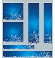 blue christmas banners with snowflakes vector image vector image