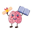 brain cartoon creativity vector image