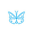 butterfly linear icon concept butterfly line vector image