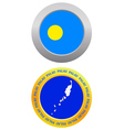 button as a symbol PALAU vector image