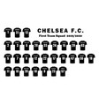 chelsea football club first team players squad vector image