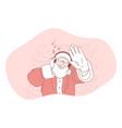 christmas present santa celebration new year vector image vector image