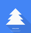 Christmas tree Flat design vector image vector image