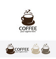 coffee cafe logo vector image